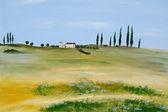 Acrylic Tuscany — Stock Photo