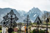 Graveyard in Salzkammergut, Austria — Stock Photo