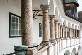 Gallery with some columns — Stock Photo