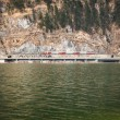 Red train in the mountain — Stock Photo #69207535