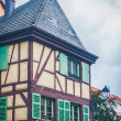 Typical half timbered house in alsace — Stock Photo #70073865