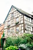 Typical Alsace half timbered house — Stock Photo