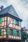 Typical half timbered house in alsace — Stock Photo