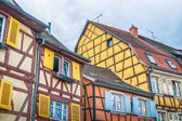 Colorful half timbered houses in alsace — Stock Photo