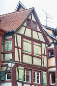 Single half timbered house in alsace — Stock Photo