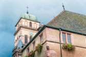 Old medieval church in Alsace, France — Stock Photo