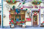 Decorated facade of a restaurant in alsace — Stock Photo