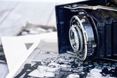 Antique photo camera — Stock Photo