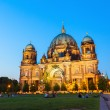 Berlin Cathedral church Berliner Dom and TV tower Fernsehturm — Stock Photo #51927669