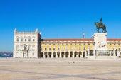 торговая площадь в лиссабоне, португалия — Стоковое фото