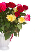 Bunch of fresh multicolored  roses — Stock Photo