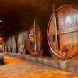 Cellar with wine barrels — Stock Photo #52574241