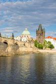 Charles bridge over river Vltava — Stock Photo