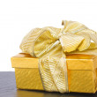 Golden  gift box — Stock Photo #52859607