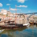 Traditional port wine boats, Porto,  Portugal — Stock Photo #53103141