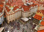 Market square  in old town of Prague — Stock Photo