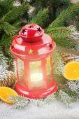 Kerst lantaarn close-up — Stockfoto