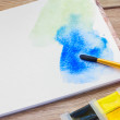 White canva with watercolor stroke — Stock Photo #54497891