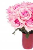 Bunch  of fresh pink roses — Stock Photo