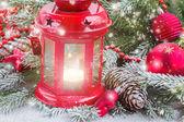 Christmas lantern close up — Stockfoto