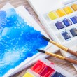 White canva with watercolor stroke — Stock Photo #55179029