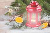 Christmas lantern close up — Stockfoto