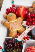 Gingerbread with christmas decorations — Foto de Stock