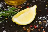 Lemon with spices — Stock Photo