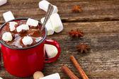 Taza de chocolate caliente — Foto de Stock