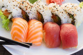 Lunch with  sushi dish — Stock Photo