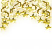Golden garland with star — Stock Photo