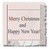 Merry christmas  and happy new year  newspaper — Foto de Stock