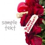 Valentines day  dark red  roses — Stock Photo #58788875
