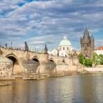 Charles bridge over river Vltava — Stock Photo #58796891