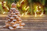árbol de navidad de pan de jengibre — Foto de Stock