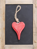 One hanging heart — Stock Photo