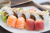Plate with  sushi dish — Stock Photo