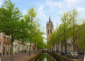 Old town of Delft in spring, Holland — Stock Photo