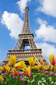 Eiffel Tower at spring, Paris — Stock Photo