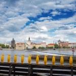 Charles bridge over river Vltava — Stock Photo #63582067