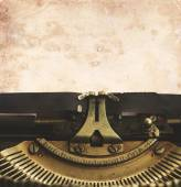 Typewriter with blank page — Stock Photo