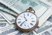 Money and time — Stock Photo