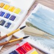 White canva with watercolor stroke — Stock Photo #68491925
