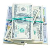 Thre piles of dollars money — Stock Photo
