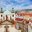 Prague spires  from above — Stock Photo #69187637