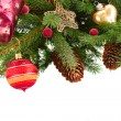Christmas decorations   on fir tree — Stock Photo #84834678