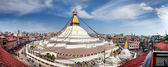Bodnath stupa panorama — Photo