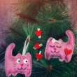 Pink cats in love — Stock Photo #58504217