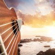 Guitar player on the beach — Stock Photo #58775221