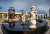 Angel statue fountain in Kyrgyzstan — Stock Photo